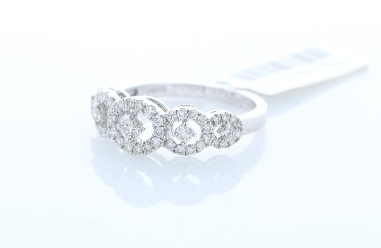 18ct White Gold Half Eternity Diamond Ring 0.57 Carats - Image 2 of 4