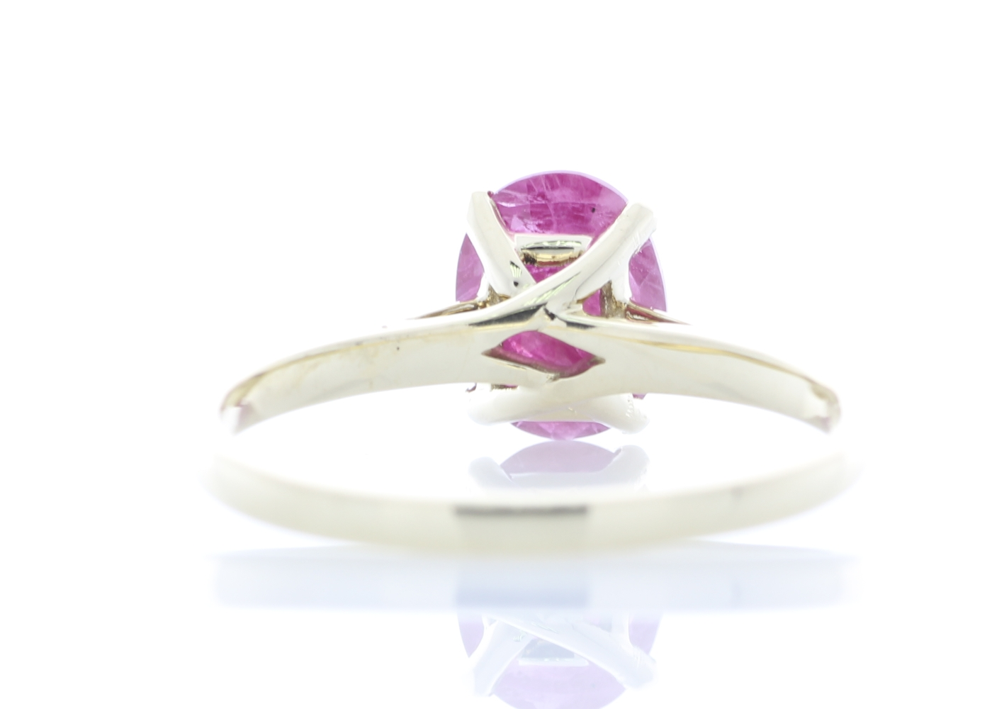 9ct Yellow Gold Oval Cut Ruby Ring 1.24 Carats - Image 3 of 4