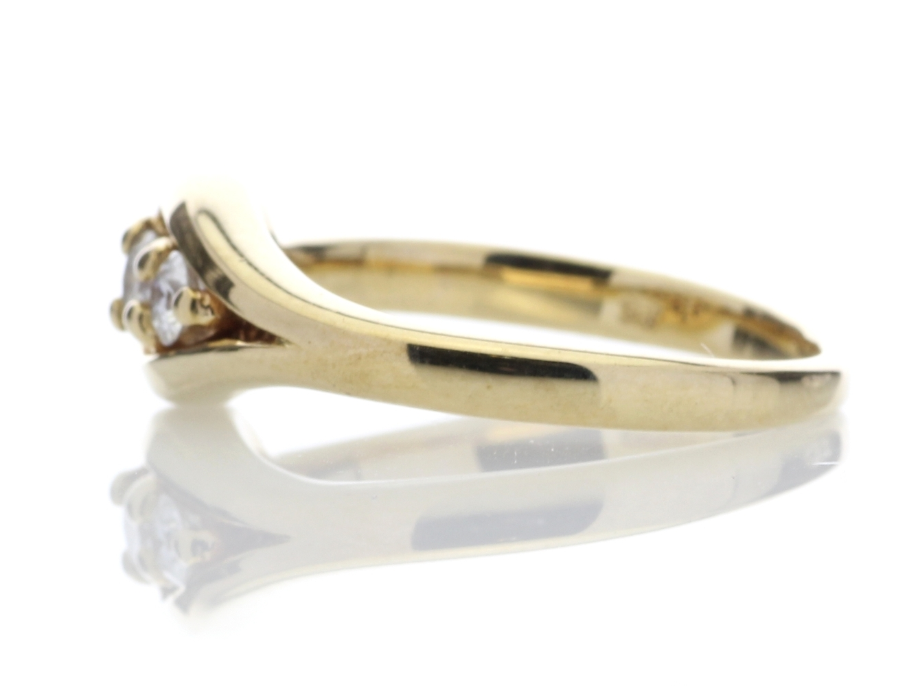 9ct Two Stone Claw Set Diamond Ring 0.18 Carats - Image 3 of 4