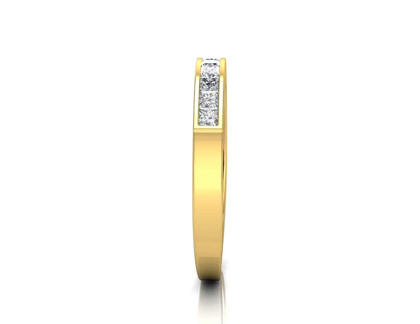 9ct Channel Set Semi Eternity Diamond Ring 0.50 Carats - Image 2 of 4
