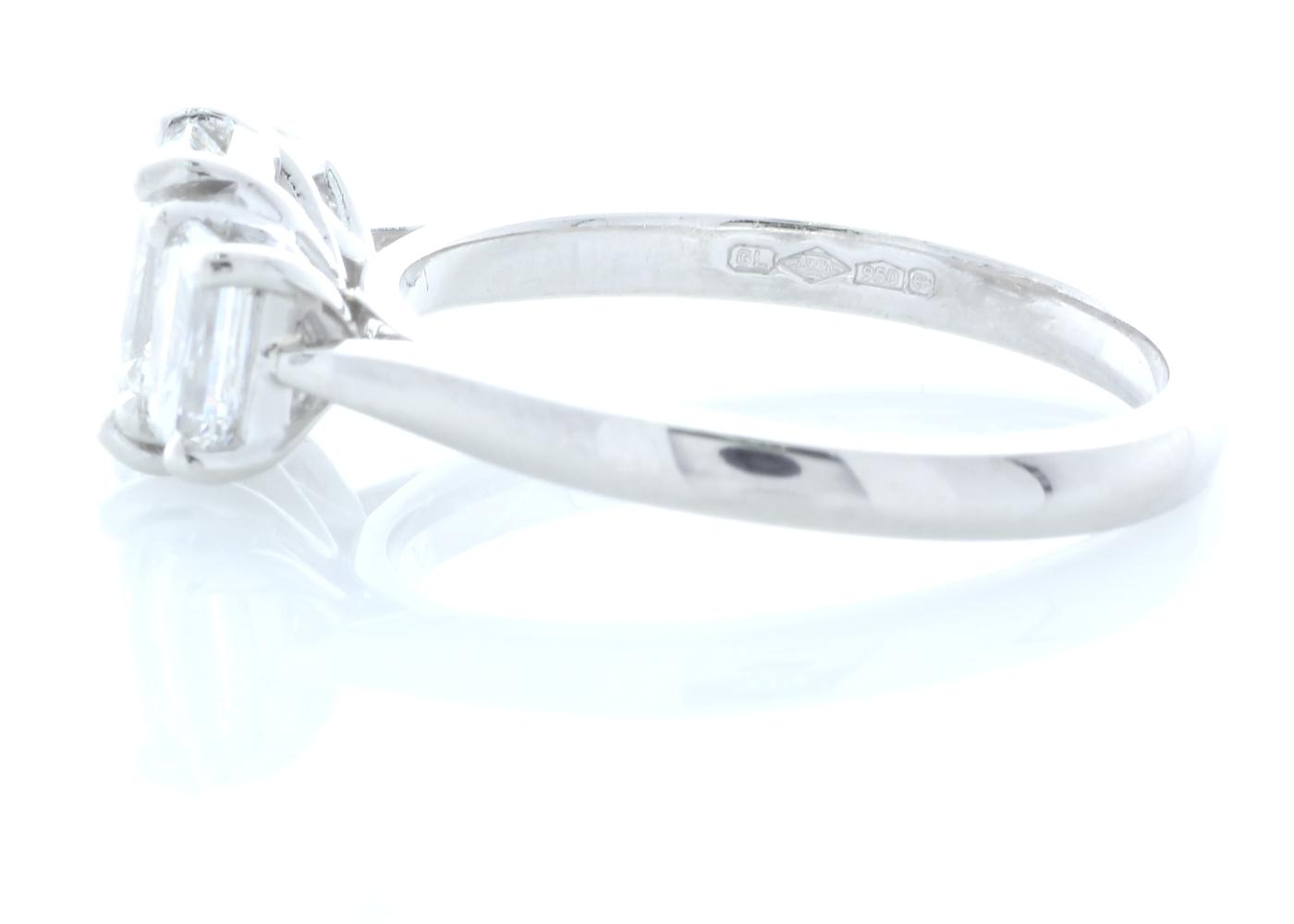 Platinum Three Stone Claw Set Diamond Ring 1.91 Carats - Image 2 of 4