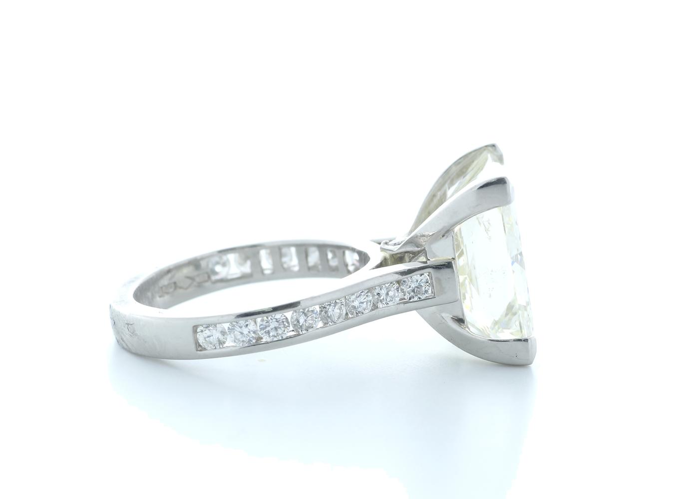 18ct White Gold Princess Cut Diamond Ring 10.00 Carats - Image 4 of 5