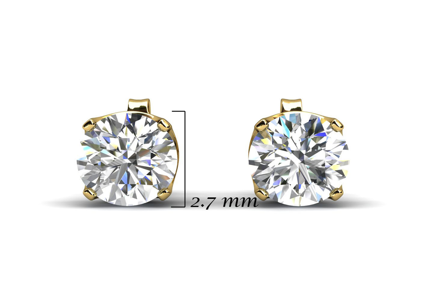 9ct Claw Set Diamond Earrings 0.15 Carats - Image 5 of 6
