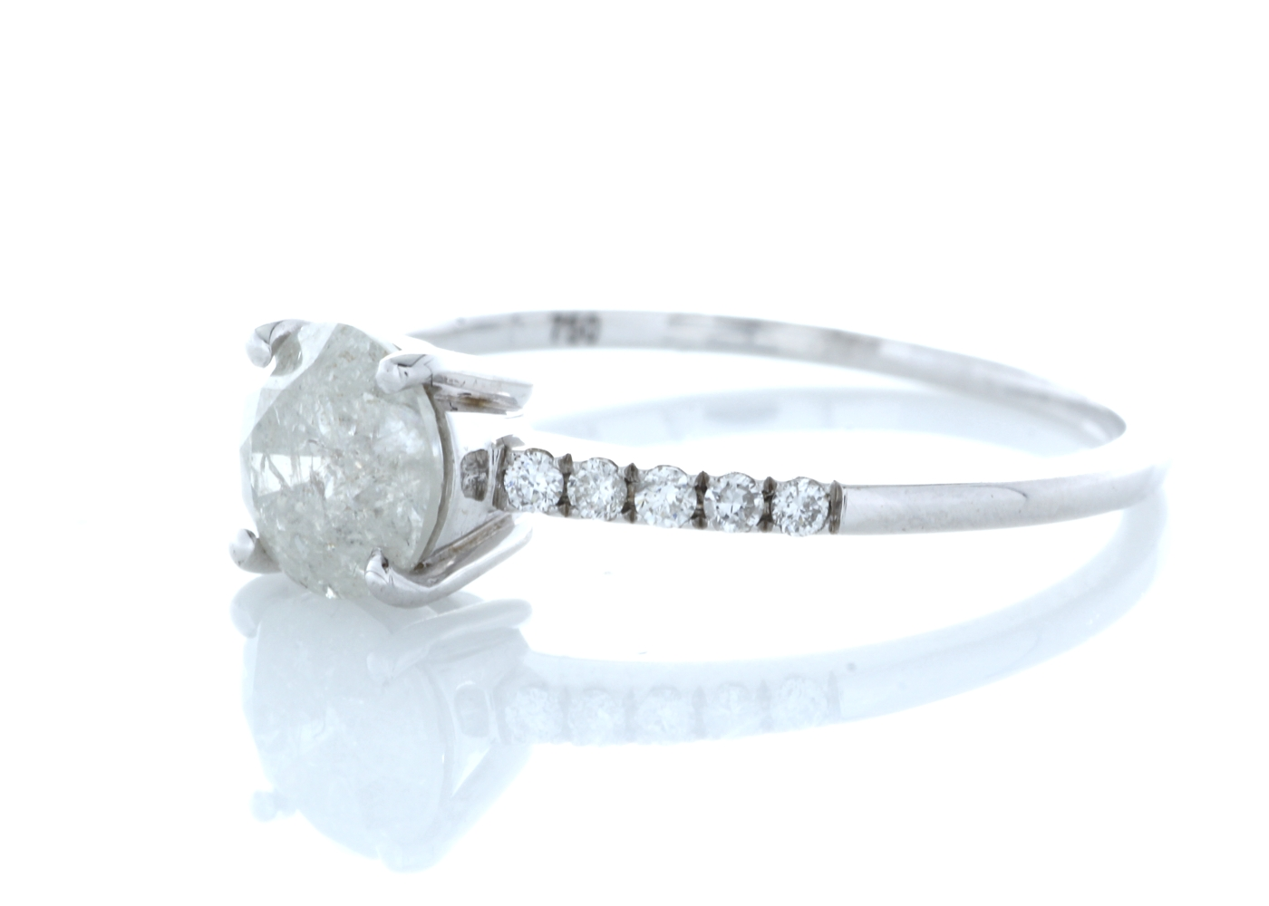 18ct White Gold Stone Set Shoulders Diamond Ring 1.04 Carats - Image 2 of 5