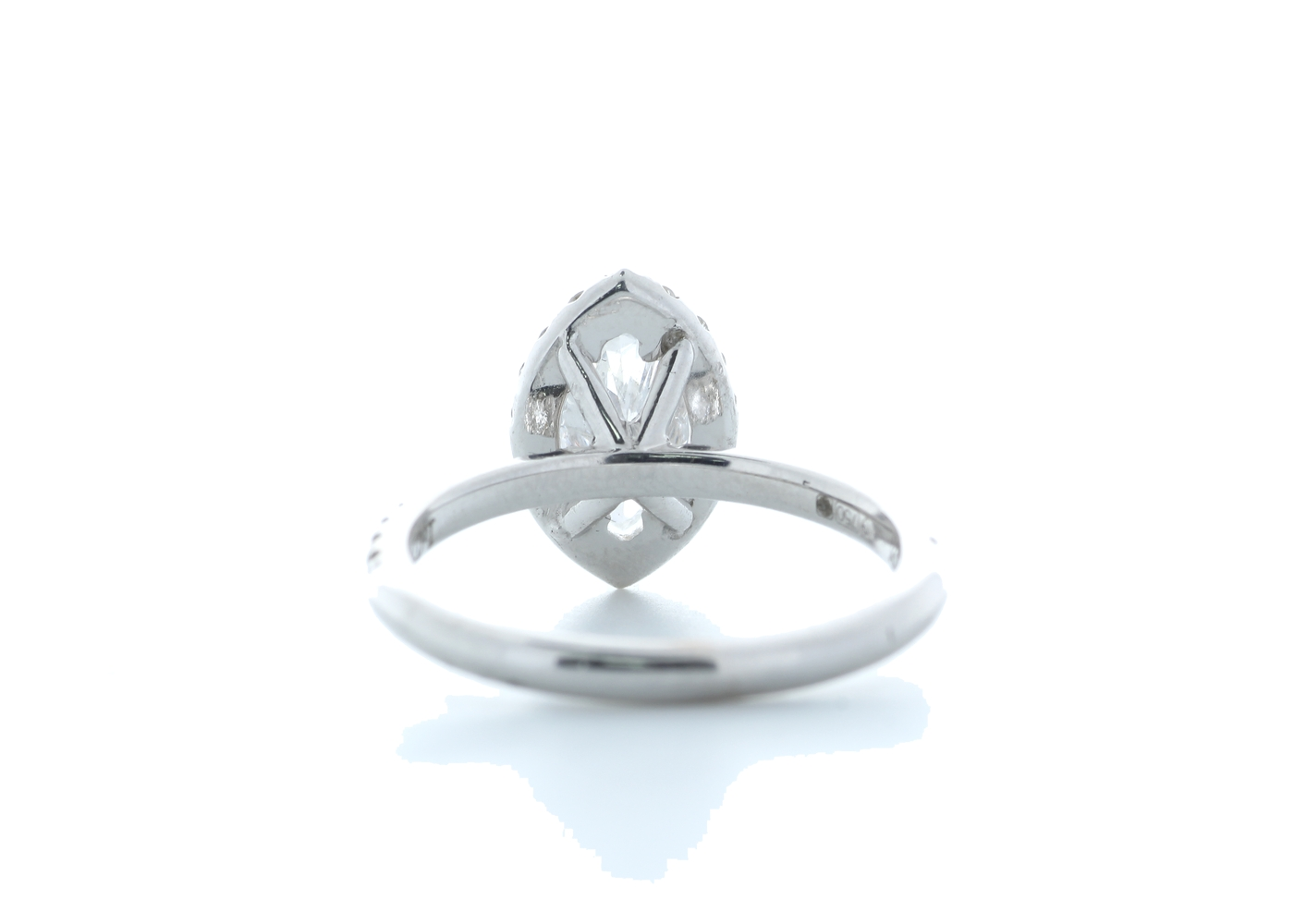 18ct White Gold Marquise Diamond With Halo Setting Ring 1.51 (1.02) Carats - Image 3 of 5