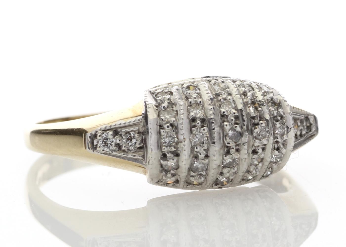 9ct Ladies Dress Diamond Ring 0.29 Carats - Image 4 of 4