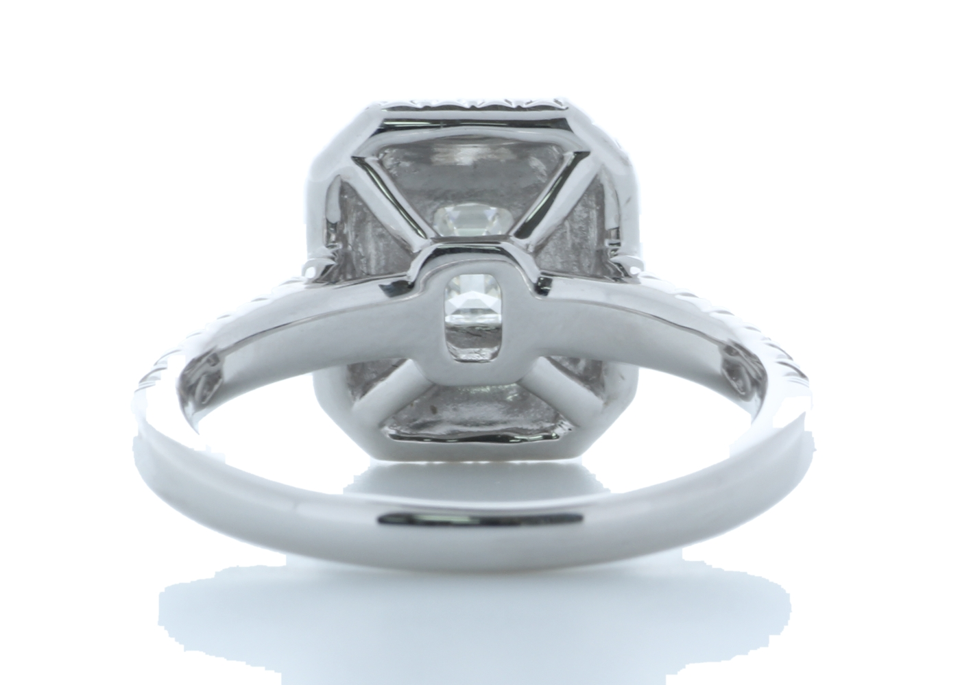 Platinum Single Stone With Halo Setting Ring 0.99 Carats - Image 3 of 4