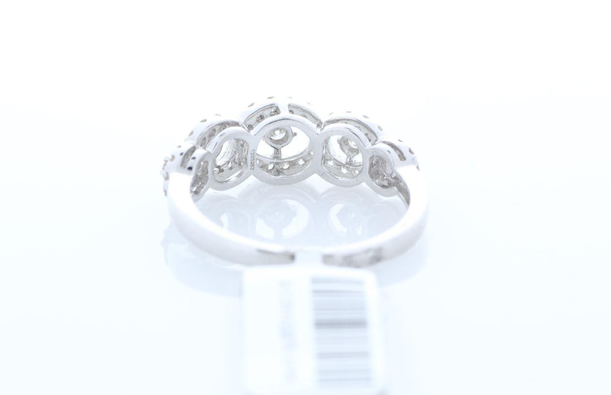 18ct White Gold Half Eternity Diamond Ring 0.57 Carats - Image 3 of 4
