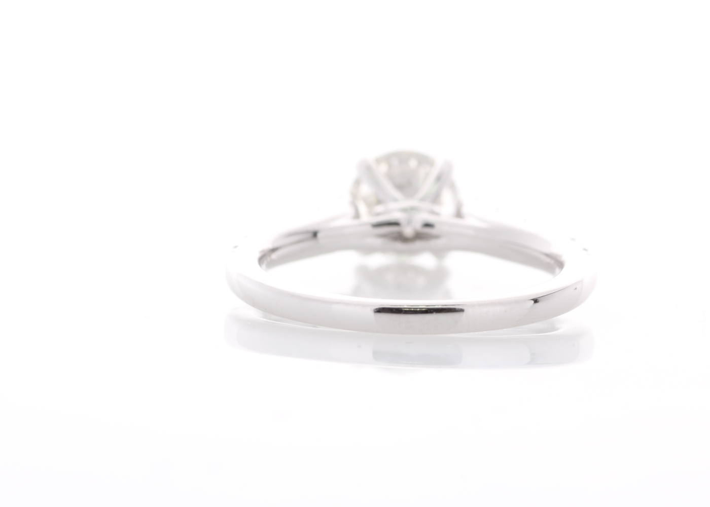 18ct White Gold Stone Set Shoulders Diamond Ring 1.47 Carats - Image 3 of 5