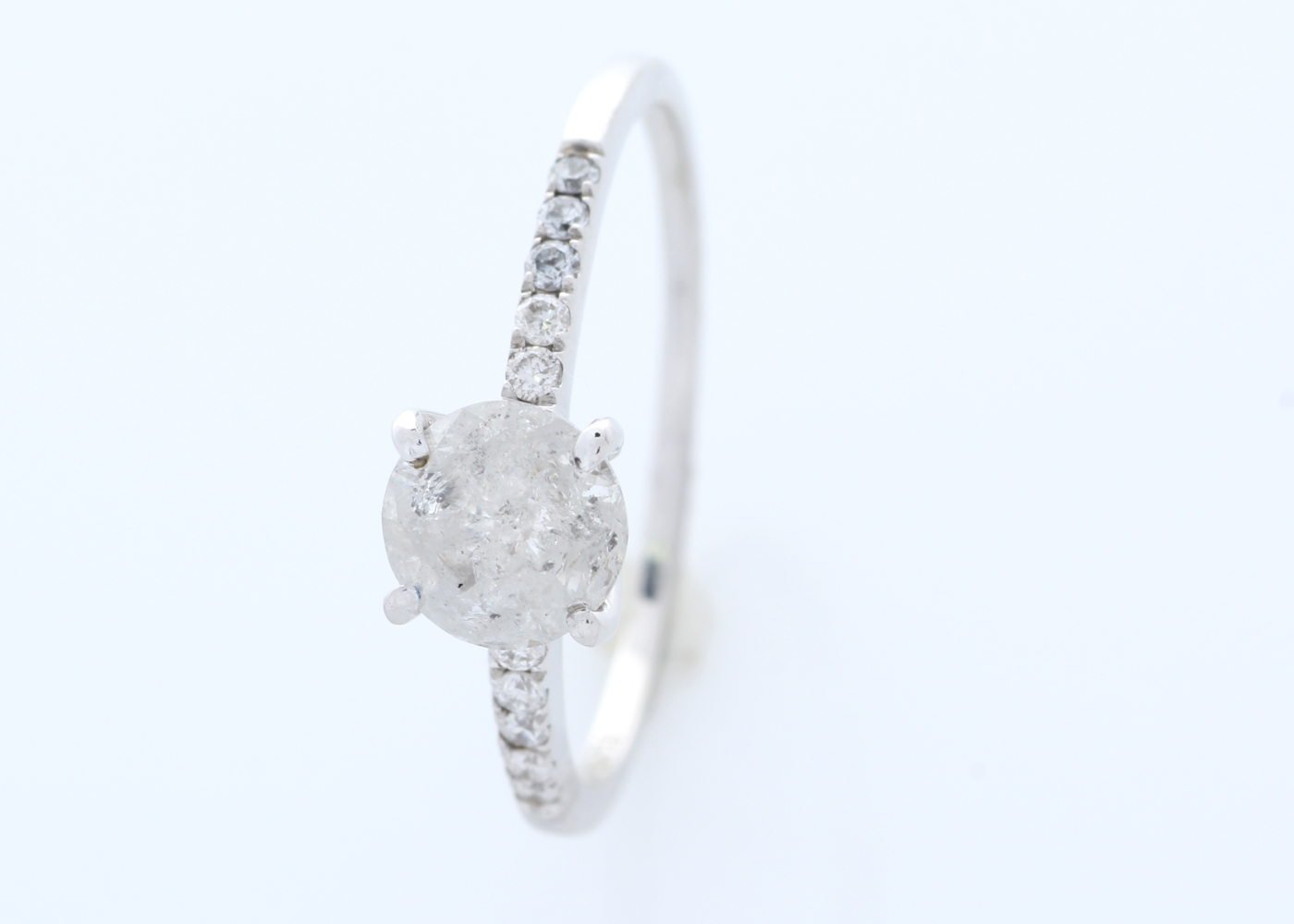18ct White Gold Stone Set Shoulders Diamond Ring 1.05 Carats - Image 3 of 4