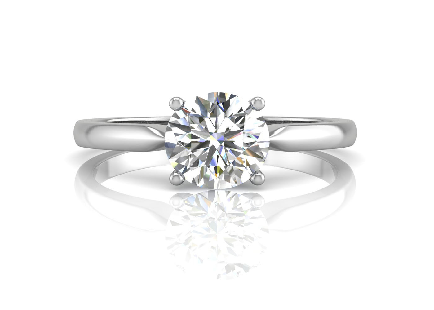 18ct White Gold D Flawless Diamond Enagagement Ring 0.50 Carats - Image 3 of 4