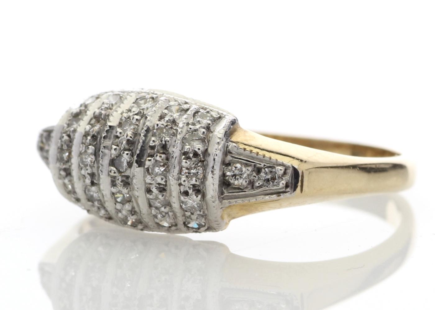 9ct Ladies Dress Diamond Ring 0.29 Carats - Image 2 of 4