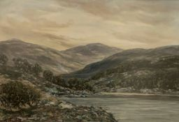 John Hamilton Glass signed watercolour Highland landscape view