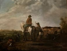 Dutch cattle drovers, Unsigned Circa 1780-1800
