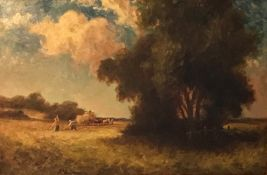 Harvest time by Percy Leslie Lara, British bn 1870, Exhib RA & ROI
