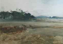 James Douglas RSW, North Berwick golf course watercolour
