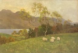 Pastural Meadow, original oil painting by Rev William Dickie British artist