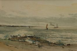On The Clyde watercolour by Scottish artist James Morris 1857-1942 Exhibited R.S.A