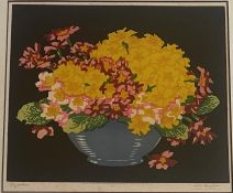 Thomas Todd Blaylock (Scottish) 1876-1929. Signed Woodblock 'Polyanthus'