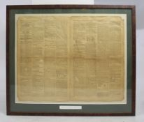 """""""Nelson's Victory at Rosetta"""" The Times 1798 Framed"""