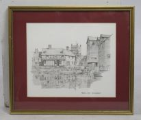 Abbey Mill Tewkesbury Print