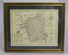 Domesday Map Worcestershire Print