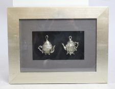 Decorative Silver Teapots Silvered Frame