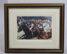 Signed William Nassau Horse Racing Limited Edition Print