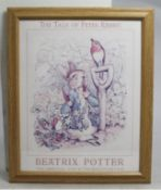 """The Tale of Peter Rabbit"" Beatrix Potter Print Framed"