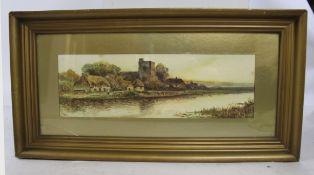 Edwardian English Landscape Print Signed Clifford