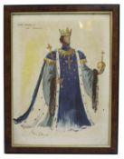 King Henry IV Print Set in Figured Walnut Frame