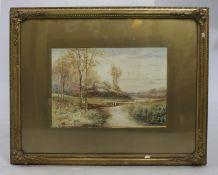Fine Edwardian English Landscape Watercolour by K E Dalglish