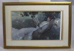 """""""Love Story"""" Print Set in Gilt Frame"""