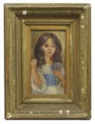 Murray Pickles Portrait of Girl Set in Gilt Frame