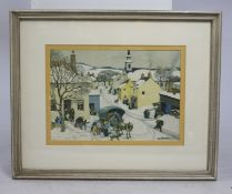 Winter Town Print Framed