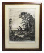 Large Landscape Print Set in Gilt Frame