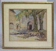French Landscape Near Strasbourg Watercolourc.1920