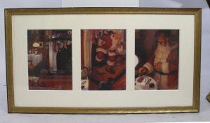 Father Christmas Triptych Print by Christian Birmingham