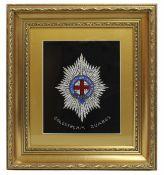 Foil Artwork Coldstream Guards Set in Gilt Frame