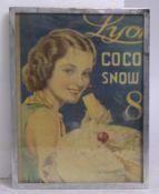 Vintage Lyon Coco Snow Framed Print