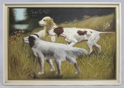 Dogs Oil on Board by R.Johnson