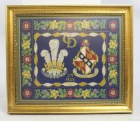 Tapestry Commemorating the Marriage of Charles & Diana 1981 Framed
