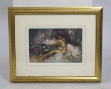William Russell Flint Print Set in Gilt Frame