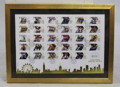 London 2012 Stamps Framed