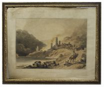 Georgian Iron Works Colebrook Dale Etching Robert Bowyer 1805