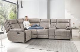 Brand new boxed cheltenham dark grey manual reclining corner sofa 1c2