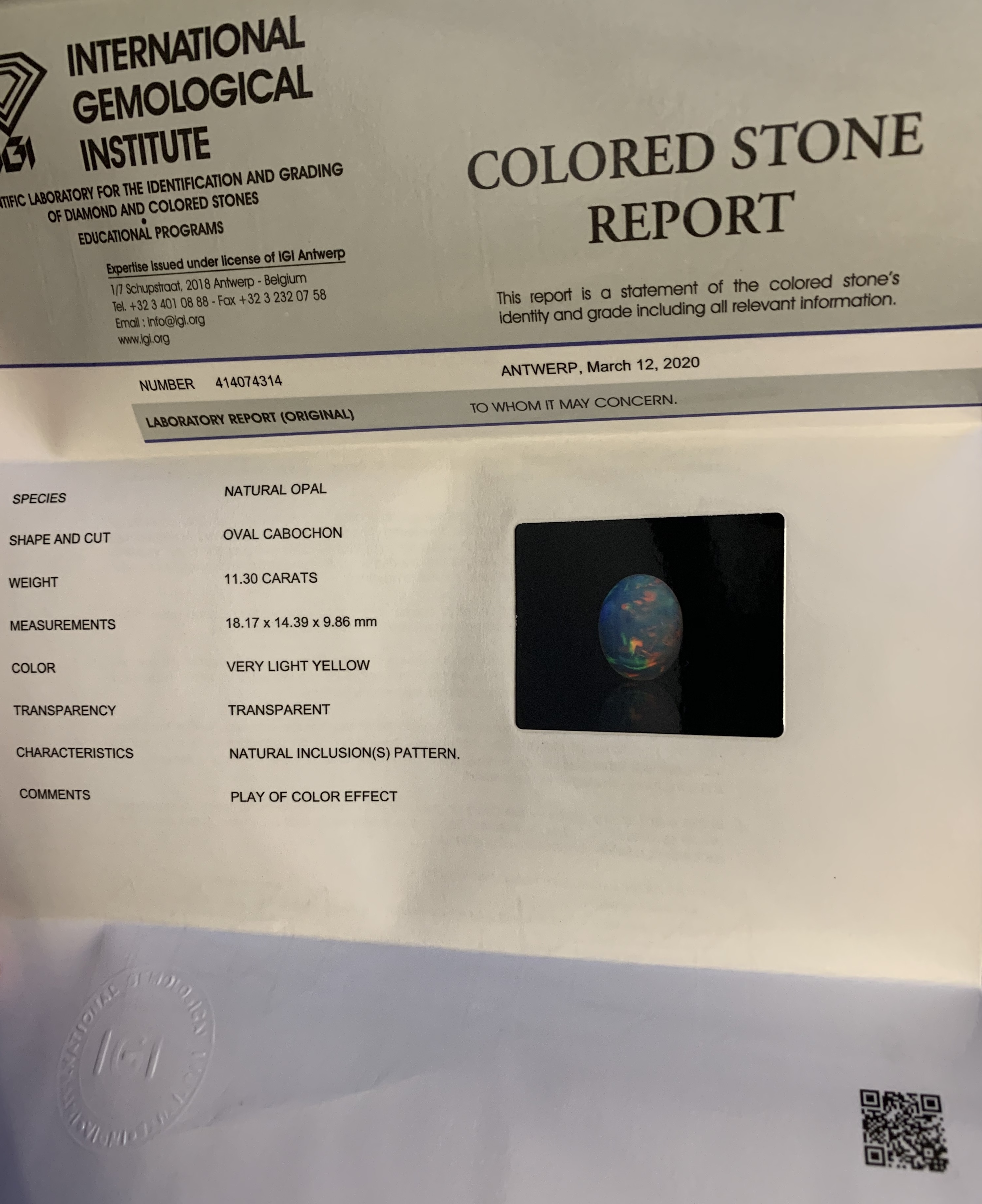 Opal, 11.30 Ct - Image 5 of 5