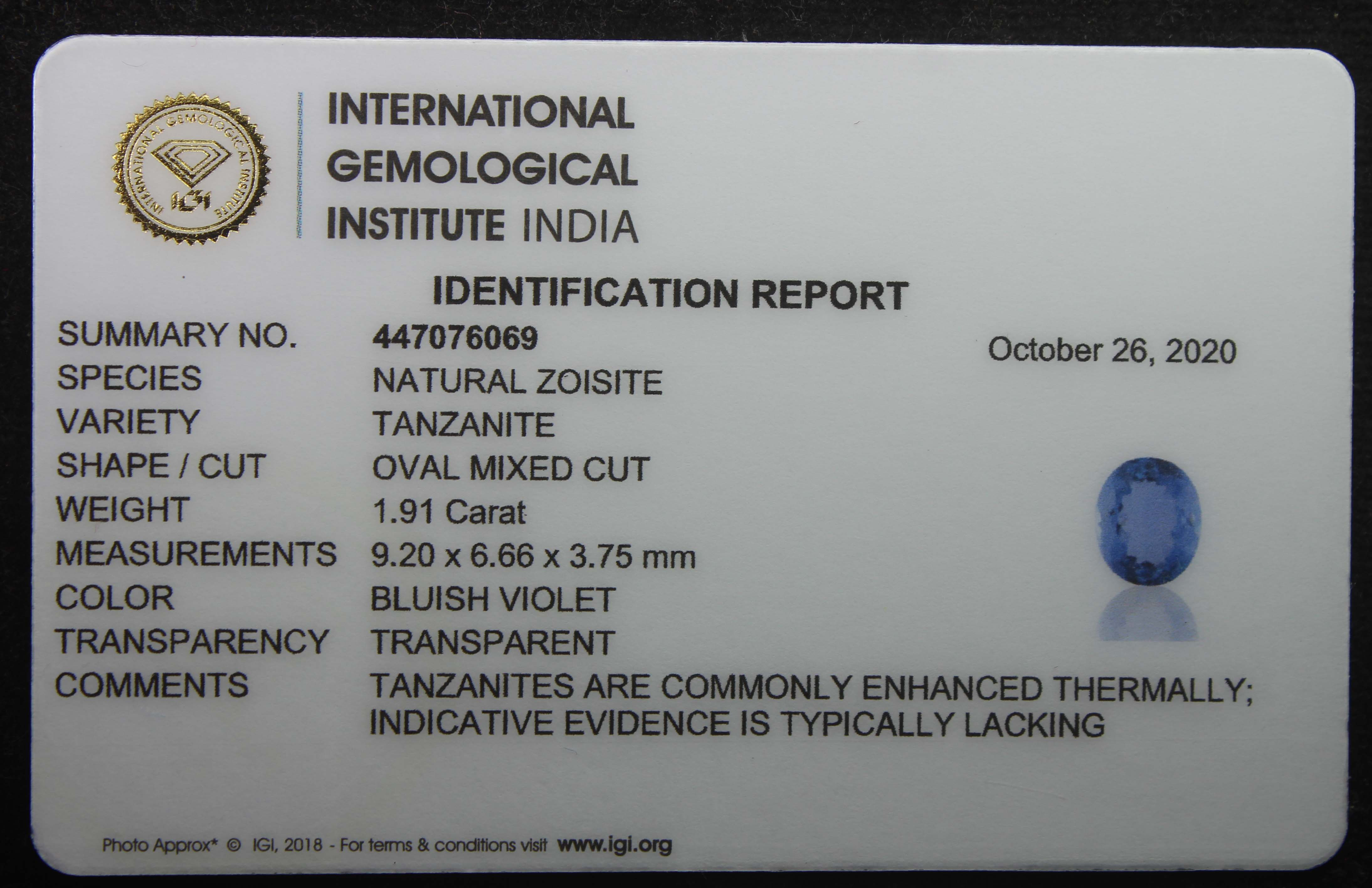 Tanzanite, 1.91 Ct - Image 5 of 5