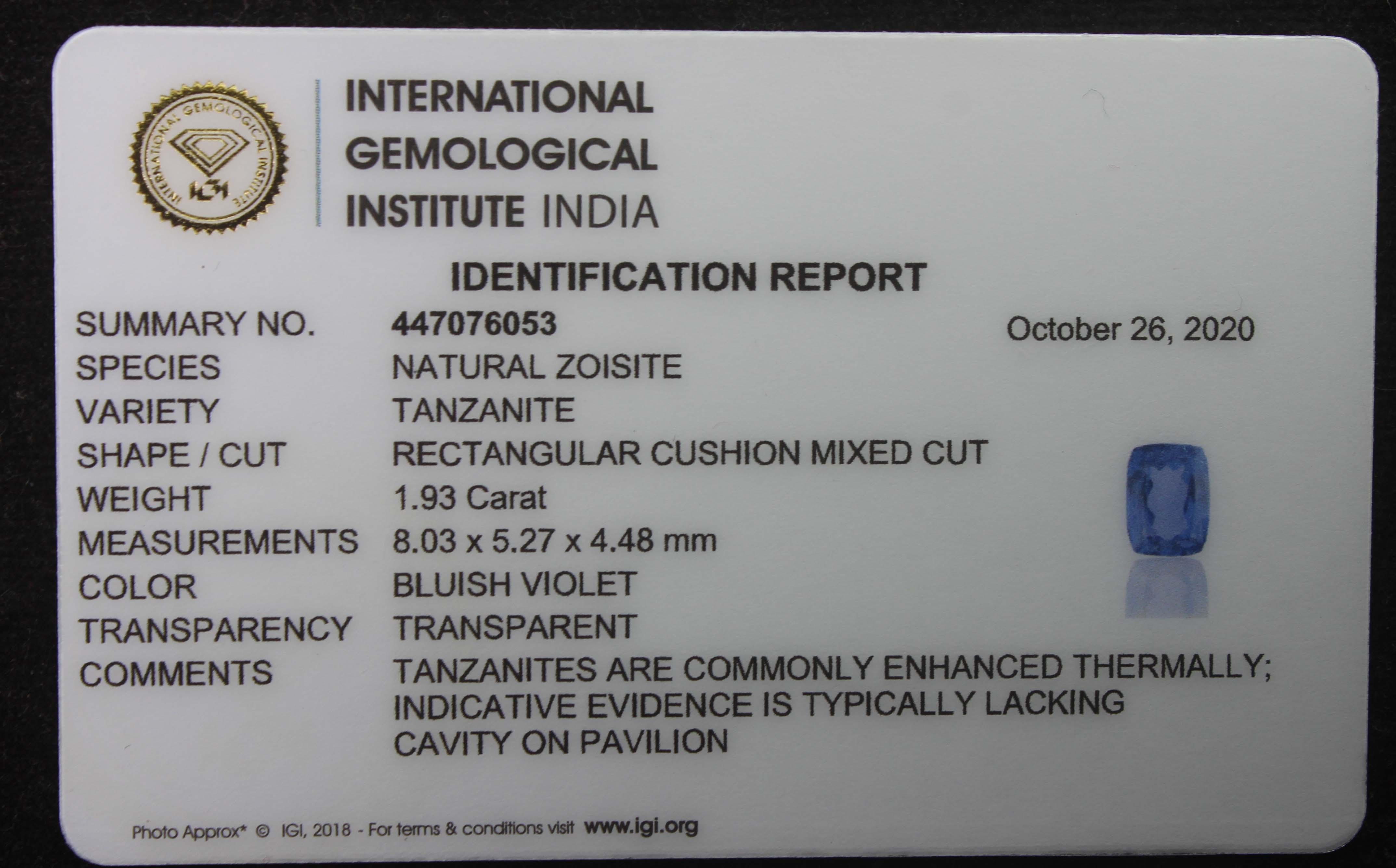 Tanzanite, 1.93 Ct - Image 5 of 5