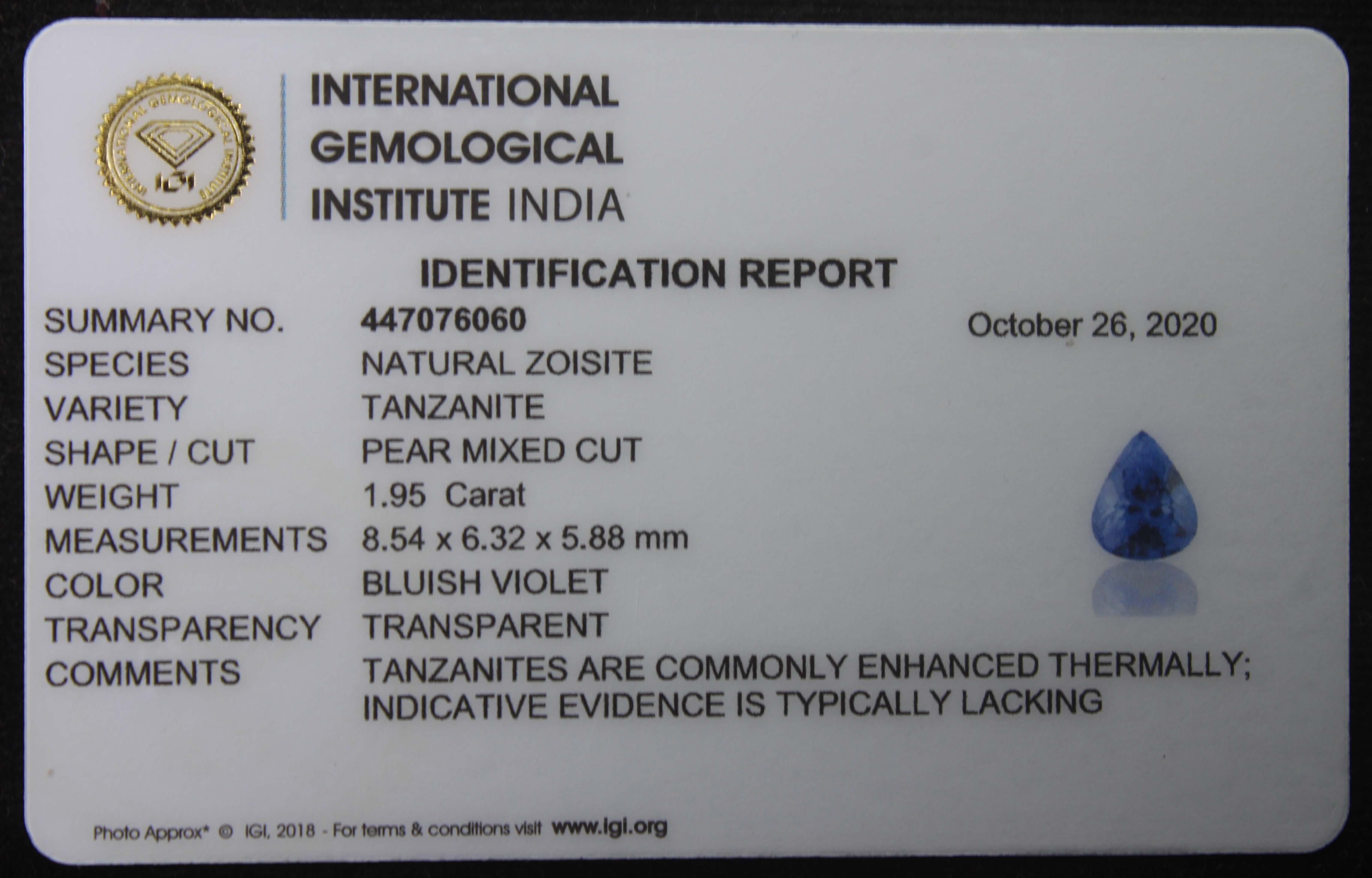 Tanzanite, 1.95 ct - Image 6 of 6